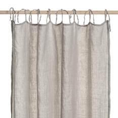 ready-made grey linen curtain