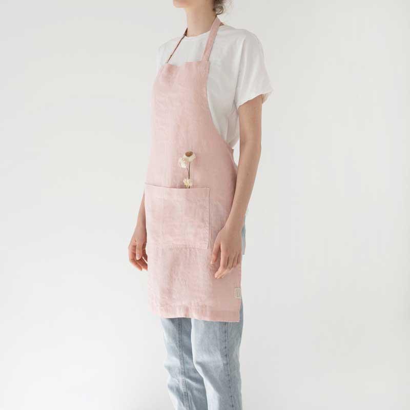 roze linnen schort linen tales