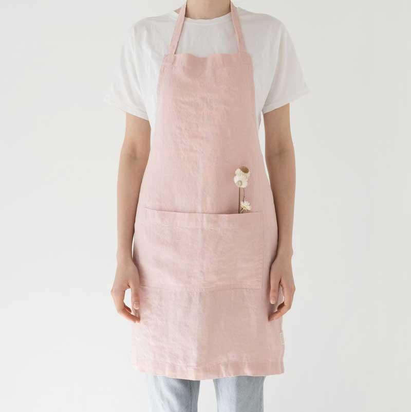 roze linnen schort Misty rose linen Tales