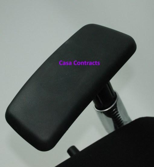 Haworth Zody chair Black fabric base Black mesh back 11