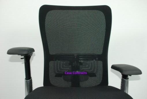 Haworth Zody chair Black fabric base Black mesh back 20