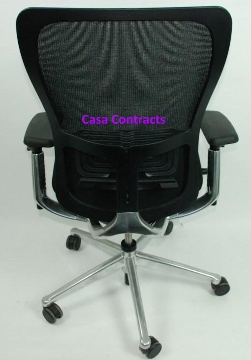 Haworth Zody chair Black fabric base Black mesh back 5
