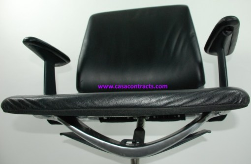 Vitra Meda chair leather adjustable arms 14b