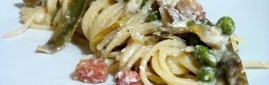 Spaghetti con la frittella