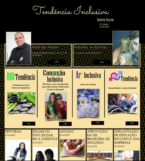 Foto tirada da 15ª edição da Revista Digital Tendência Inclusiva