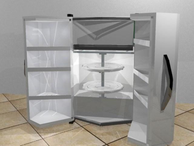 refrigerador doméstico, adaptado a cadeirante