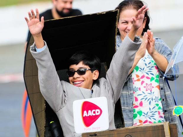 Corrida Maluca, com crianças cadeirantes, será neste sábado (4) em Porto Alegre (Foto: Duda Bairros/Divulgação)