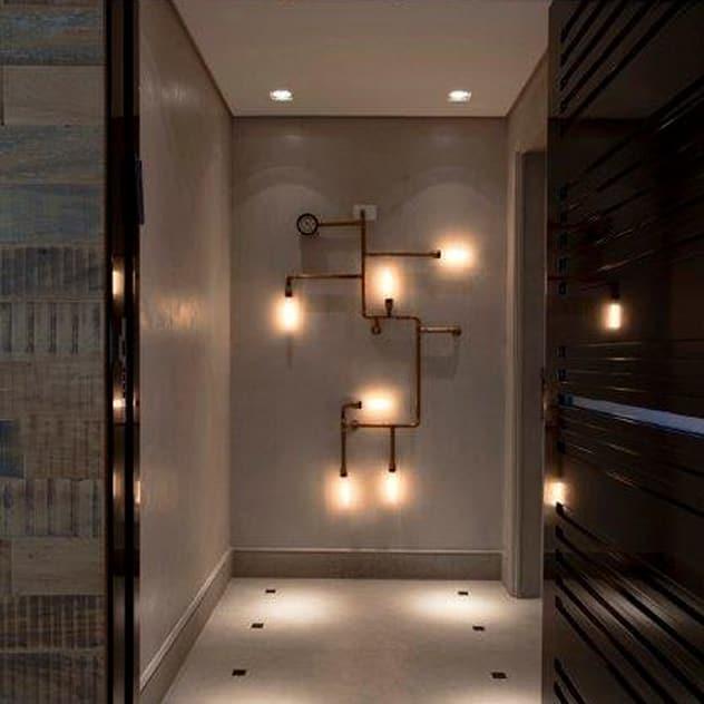 Ap. adaptado - cadeirante: Corredores, halls e escadas modernos por Marcelo Rosset Arquitetura