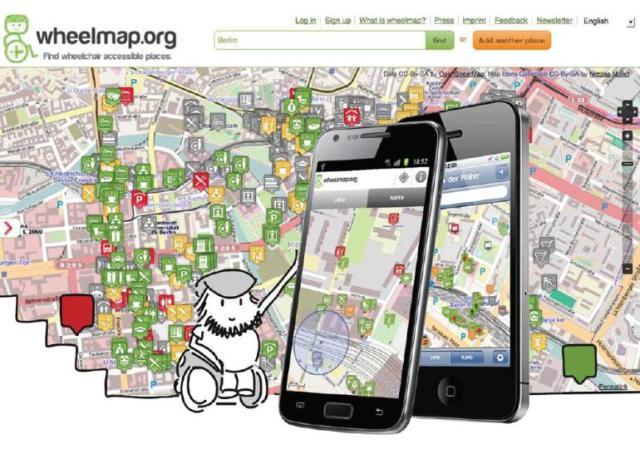 Atualmente, quase 600.000 lugares públicos com acessibilidade em todo o mundo podem ser encontrados no Wheelmap