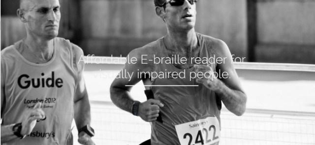 Um dos desafios é a baixa porcentagem de pessoas que sabem a leitura de braille (Foto: Divulgação/Dot)