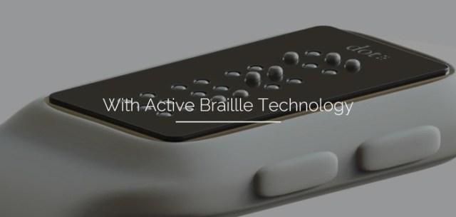 Tela móvel permite a leitura de mensagens e navegação (Foto: Divulgação/Dot)