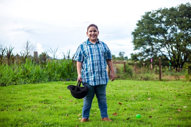 Gabriel diz que sonha em participar de competições nacionais (Foto: Nilsinho Casarim/ Arquivo pessoal)