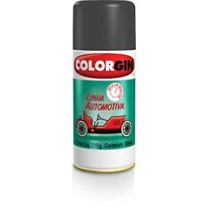 Tinta Spray Colorgin Automotivo – Preto Fosco (uso geral) 300ml