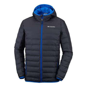 Jaqueta Columbia Pluma de Ganso Lake 22 Hooded Super Blue