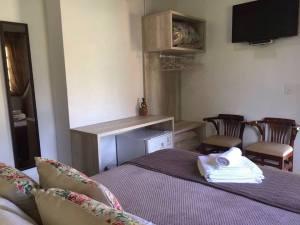 Foto do quarto de pernoite na Peregrinação no Caminho de Santa Madre Paulina