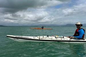 Pedro Lacaz Amaral em Gov. Celso Ramos participando de um Kayak Camping Experience