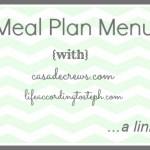 Meal Plan Menu #1