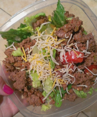 taco salad with grass fed beef | Casa de Crews