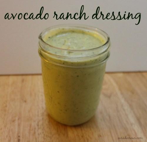 avocado ranch dressing @casadecrews