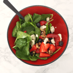 Spinach Berry Salad with Lemon Poppy Seed Dressing