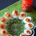 Bacon and Sriracha Deviled Eggs for #SundaySupper