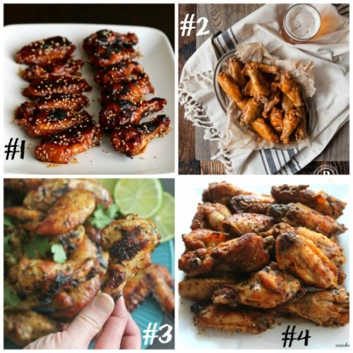 chicken wing collage