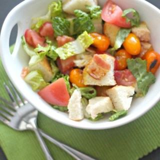 BLT Panzanella Salad for #SundaySupper