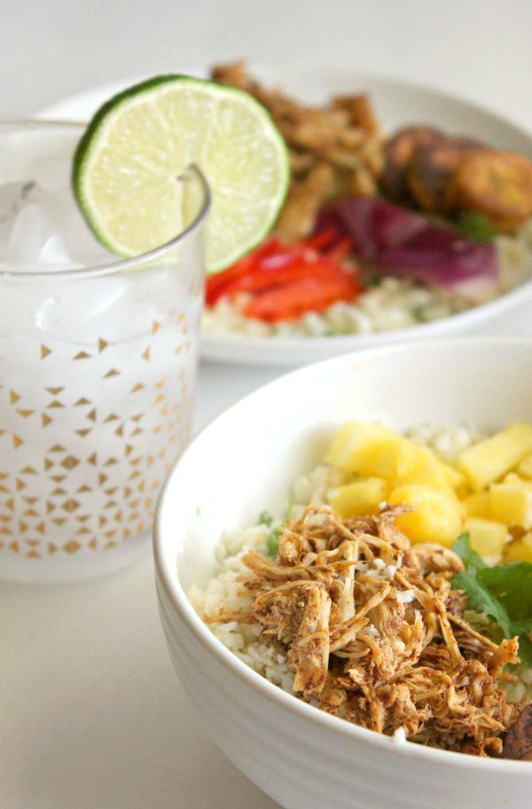 jerk chicken rice bowls for #weekdaysupper - have dinner ready in under 30 minutes!