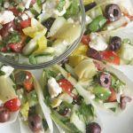 Greek Salad Endive Boats for #SundaySupper