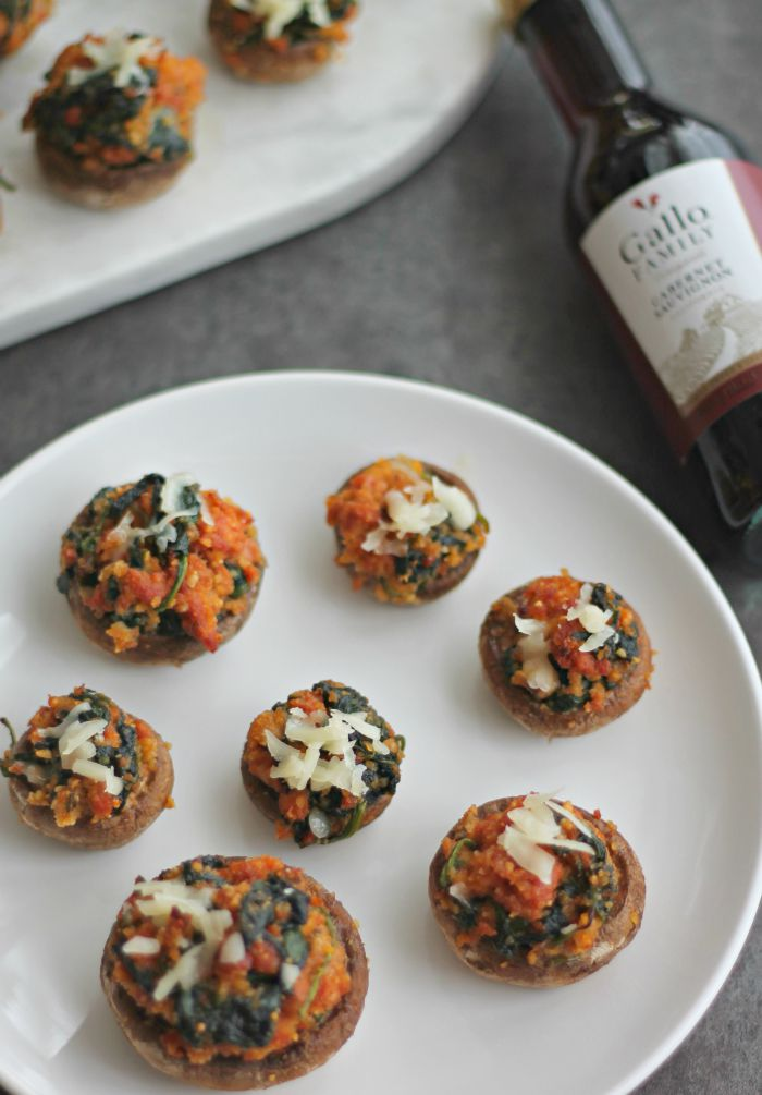 Chorizo Stuffed Mushrooms #SundaySupper
