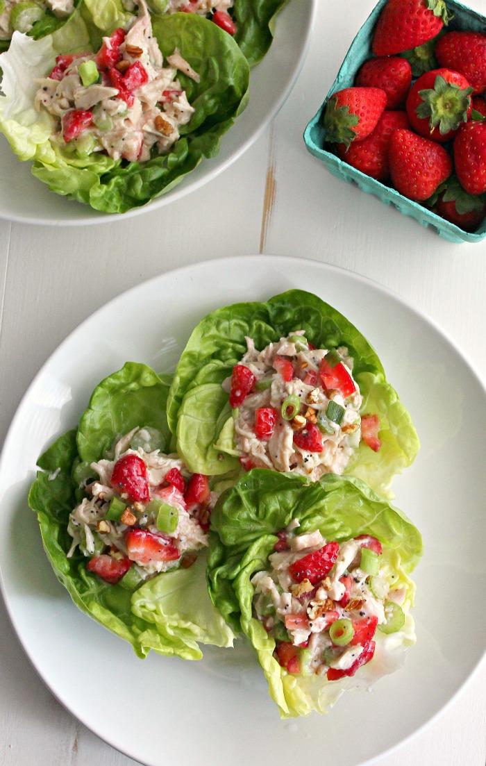 Strawberry Poppy Seed Chicken Salad Sandwiches #SundaySupper #FLStrawberry