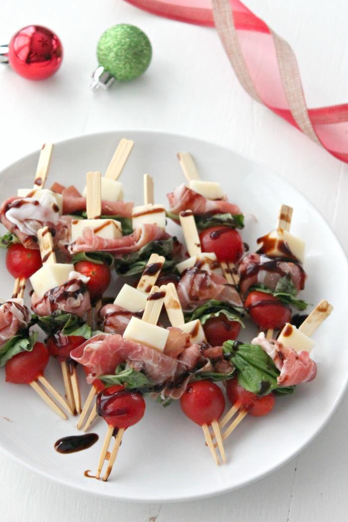 prosciutto & mozzarella skewers