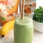 Kale, Banana, and Peanut Powder Smoothie