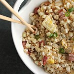 "A healthy side dish: cauliflower fried ""rice"""
