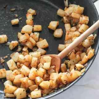 Jicama Home Fries #SundaySupper