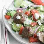 Gyro Meatballs with Lemon Rice #SundaySupper
