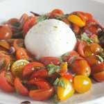 Tomato Caprese with Burrata #SundaySupper