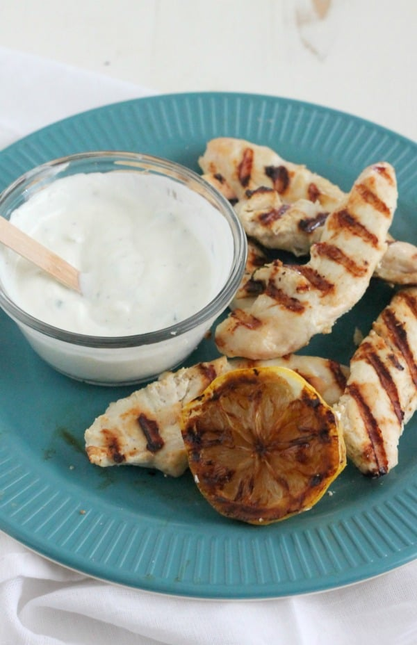 chicken souvlaki rice bowls | casadecrews.com