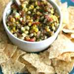 Roasted Corn Salsa #SundaySupper