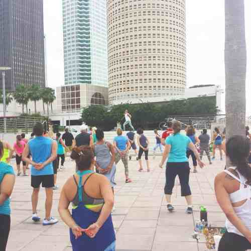zumba in the park - curtis hixon