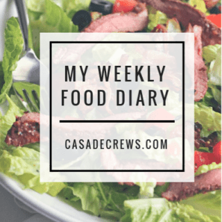 My weekly food diary: week one