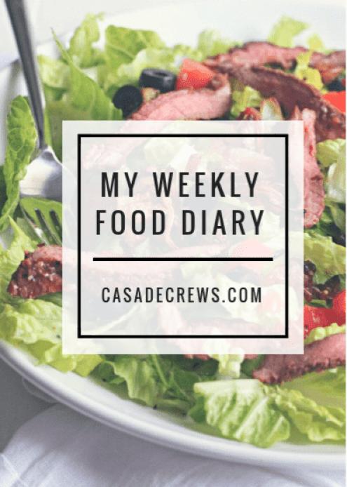 my weekly food diary | casadecrews.com