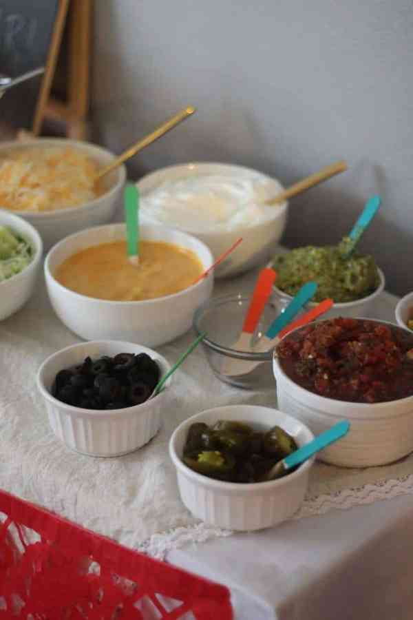 DIY Nacho Bar - How to host a Fiesta Engagement Party | casadecrews.com