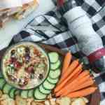 Homemade Hummus with Greek Toppings – perfect for a summer picnic!