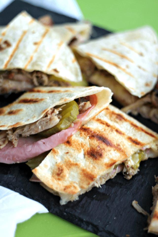 cuban sandwich quesadillas | casadecrews.com