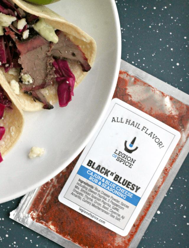 Blue Cheese Brisket Tacos | casadecrews.com