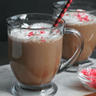 Homemade Peppermint Mocha Latte