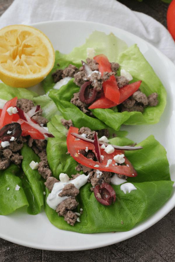 Gyro Pita Lettuce Wraps | casadecrews.com