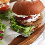 Whipped Feta Turkey Burgers