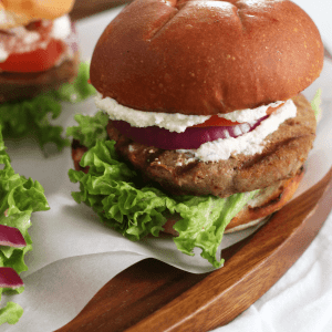 Whipped Feta Turkey Burgers